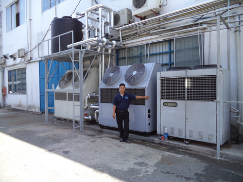 Installation multi air cooled chiller unit