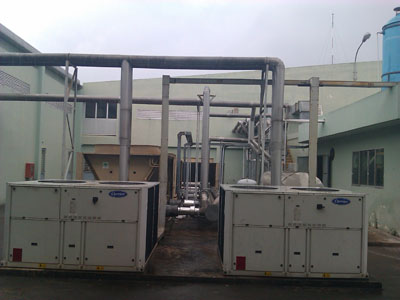 Maintenance Carrier chiller unit
