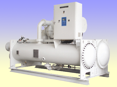 Centrifugal water cooled flood chiller unit