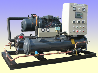 Water cooled dry chiller unit