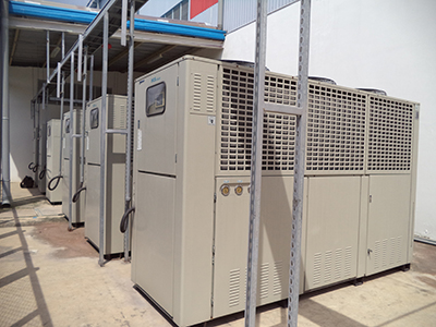 Installed air cooler chiller unit